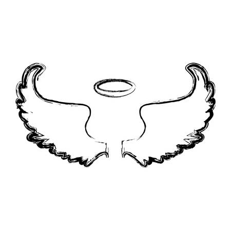 Holy spiritual angel icon vector illustration graphic design Stock Photo