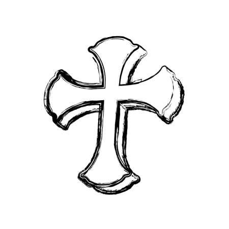 Saint cross christianity icon vector illustration graphic design Stock Photo