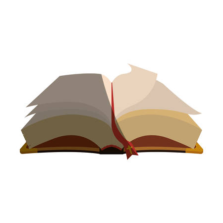 holy book: Holy bible christianity icon vector illustration graphic design