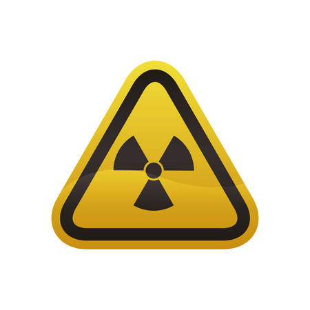 dangerous construction: Nuclear sign advert icon vector illustration graphic design