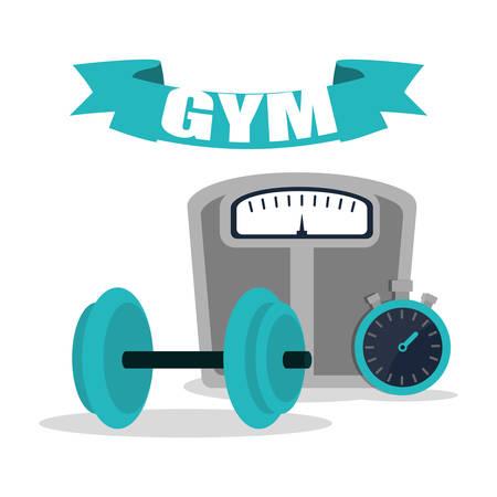 gym equipment training image vector illustration eps 10