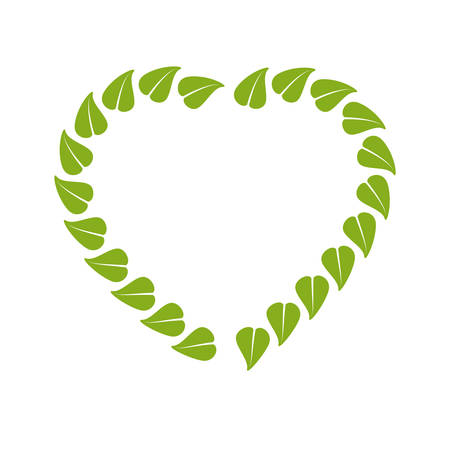 food leave heart organic stamp vector illustration eps 10