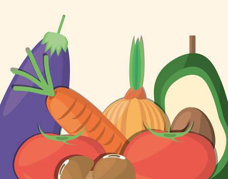 vegetables organic food product image vector illustration eps 10 Illustration