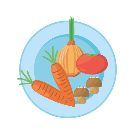 detox: vegetables organic food product image vector illustration eps 10 Illustration