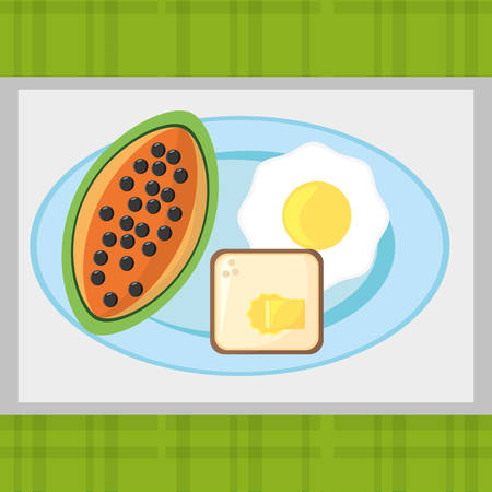 bowl of cereal: breakfast food fresh health image vector illustration eps 10