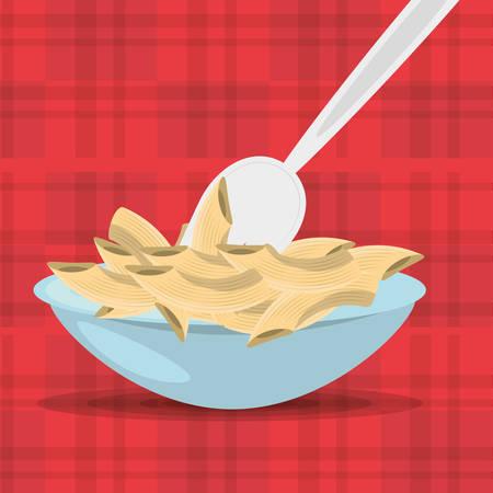 produits céréaliers: Alimentation en glucides alimentation saine image illustration vectorielle eps 10 Illustration