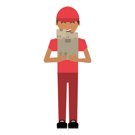 delivery man package service vector illustration eps 10