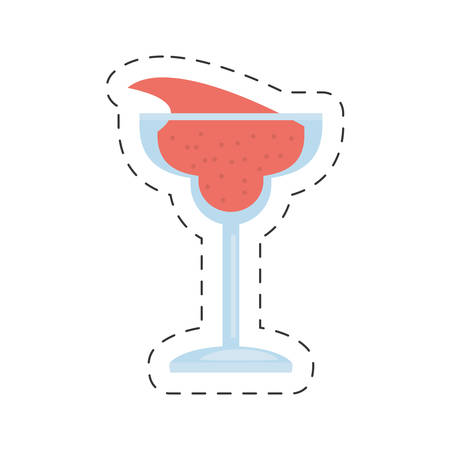 glass cup cocktail drink cut line