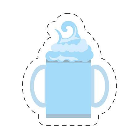 freshly: freshly smoothie healthy beverage cut line vector illustration eps 10