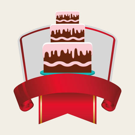 Birthday Card Cake Banner Vector Illustration Eps 10 Royalty Free