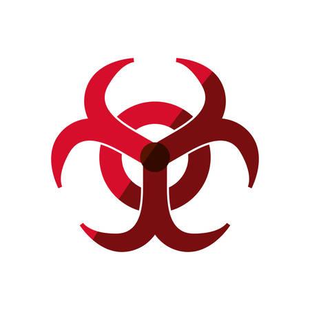 Biohazard advert sign icon vector illustration graphic design