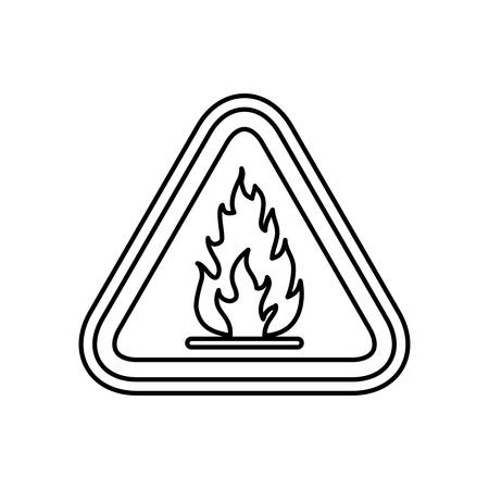 flammable warning: Flammable advert sign icon vector illustration graphic design