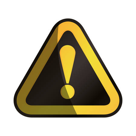 Attention advert sign icon vector illustration graphic design Illustration