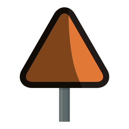 Empty attention sign icon vector illustration graphic design