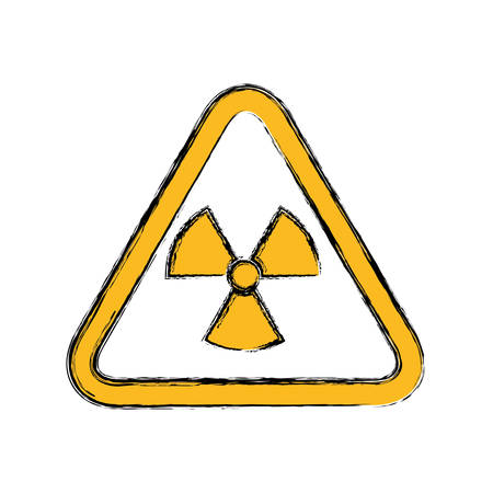 vector nuclear: Nuclear sign advert icon vector illustration graphic design