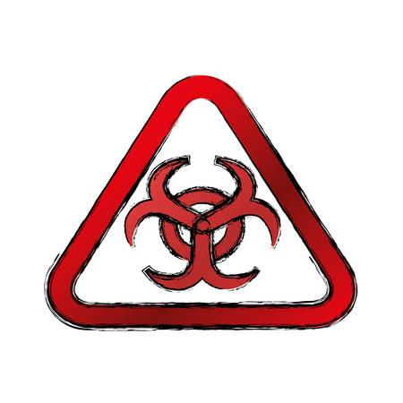 biohazard sign: Biohazard advert sign icon vector illustration graphic design
