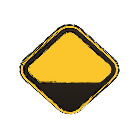 dangerous construction: Empty attention sign icon vector illustration graphic design