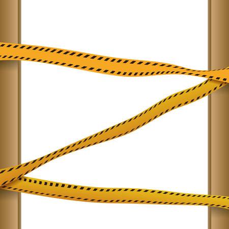 Police yellow tape icon vector illustration graphic design