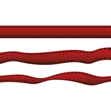 Polic red tape icon vector illustration graphic design