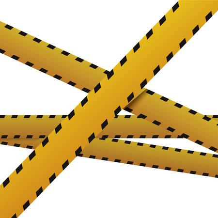 murder scene: Police yellow tape icon vector illustration graphic design