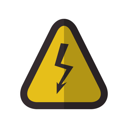 dangerous construction: Caution danger sign icon vector illustration graphic design