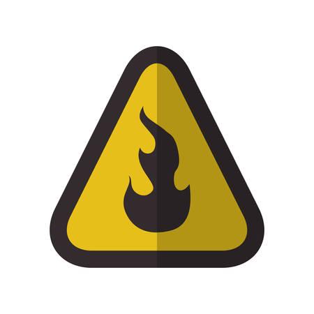 Caution danger sign icon vector illustration graphic design