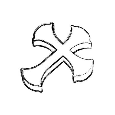 기독교 십자가 상징 아이콘 벡터 일러스트 그래픽 디자인