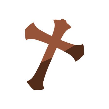 Christianity cross symbol icon vector illustration graphic design Illustration