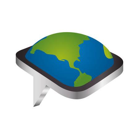 socializando: Chat bubble isolated icon vector illustration graphic design