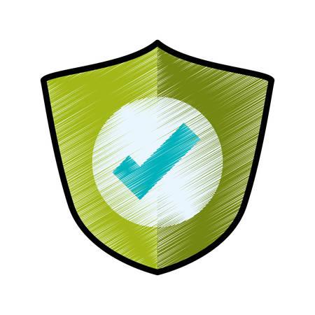 Antivirus shield sign icon vector illustration graphic design Illustration
