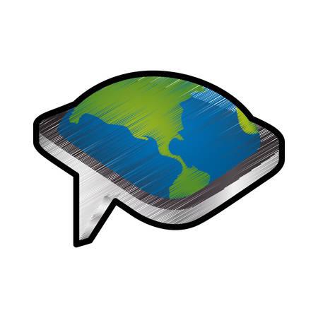 socializando: Chat burbuja icono aislado ilustración vectorial diseño gráfico