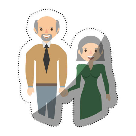 awaiting: people couple pregnant family image vector illustration eps 10 Illustration