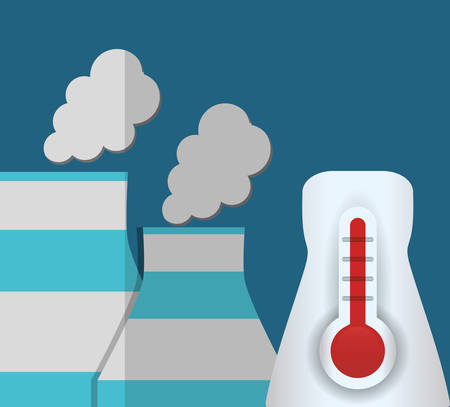 vector nuclear: nuclear power plant temperature vector illustration eps 10 Illustration