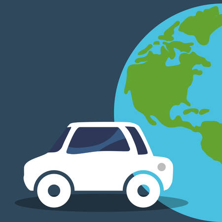 car vehicle world global environment vector illustration eps 10