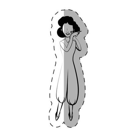 cartoon woman expression gesture vector illustration eps 10 Illustration