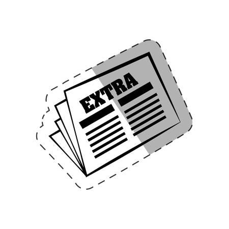 newspaper letter extra paper evctor illustration eps 10