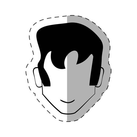 male faceless character image vector illustration eps 10