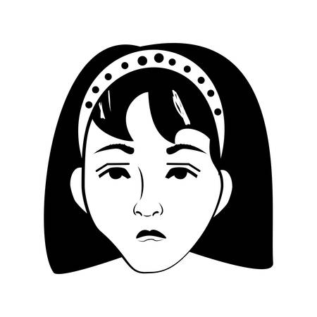 stance: cartoon woman character posture line vector illustration eps 10 Illustration