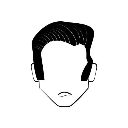 ilustration: head people faceless line vector ilustration eps 10