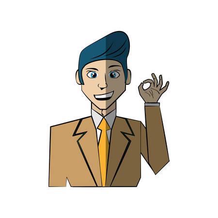 cartoon man character concept vector illustration eps 10
