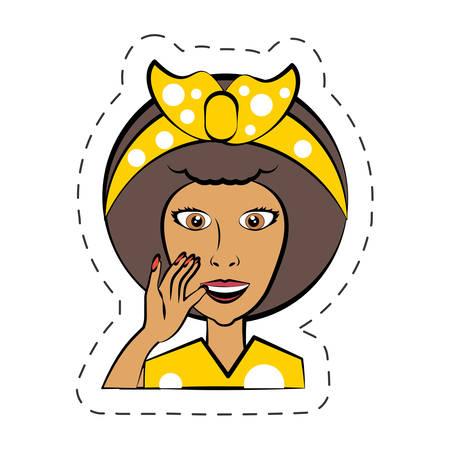 Dibujos animados mujer expresión imagen vector illutration eps 10