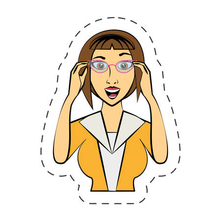 cartoon woman expression image vector illutration eps 10 Illustration