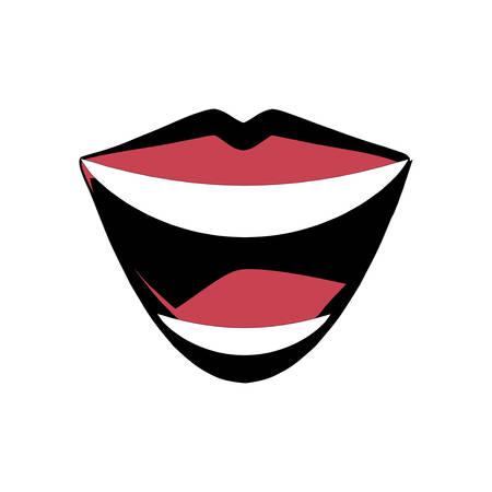 pronounce: mouth lips comic image vector illustration eps 10 Illustration