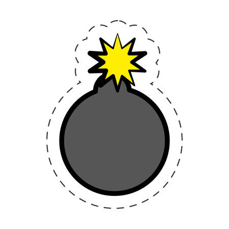 explotion: comic bomb explotion symbol vector illustration eps 10