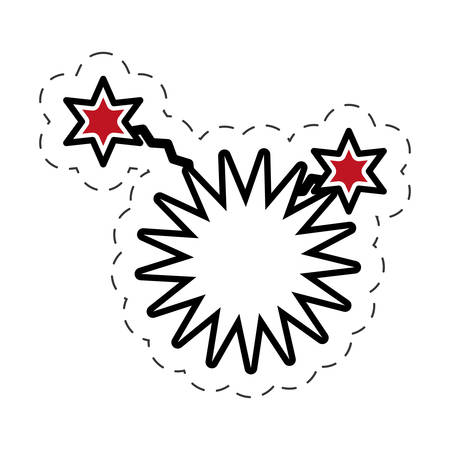 pop art star speech bubble symbol vector illustration eps 10