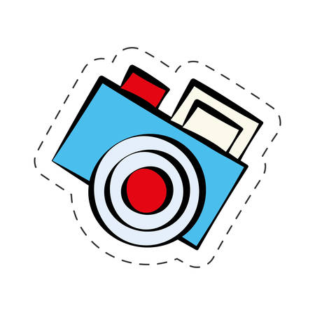 comic photo camera image vector illustration eps 10