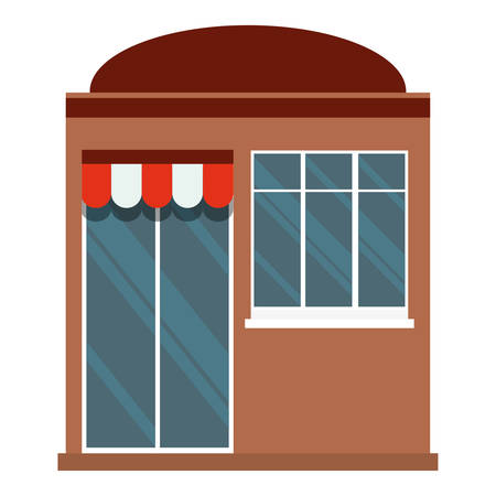 small business woman: shop storefront facade icon image vector illustration design Illustration
