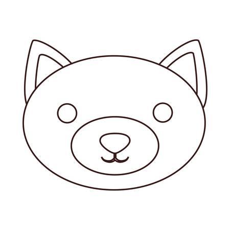 kawaii fox animal icon over white background. vector illustration Illustration
