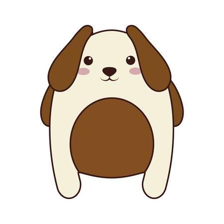 kawaii dog animal icon over white background. colorful design. vector illustration Illustration