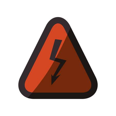 High voltage sign icon vector illustration graphic design